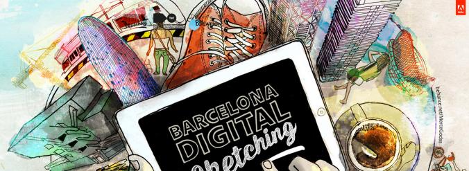 Cartell_BCNDigitalSketching_Blog_ATComunicacio_MerceGodàs