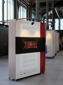 Exposició Vermell de Censura tal com es va exposar el 2015.